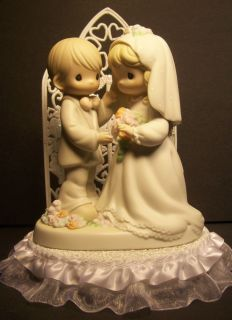 PRECIOUS MOMENTS Bride and Groom Wedding Cake Topper I give you my