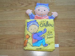 CAILLOU Baby Plush Doll book game toy FRENCH PBS CHOUETTE RARE RETIRED