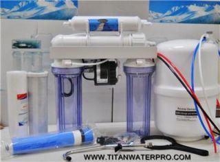 stage reverse osmosis water filter system with permeate pump titan