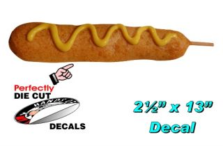Corn Dog 2 5x13 Decal for Corn Dogs Stand or Midway Carnival
