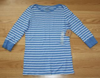 Womens Lucky Brand Blue and White Striped Shirt Size s Small $50