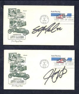 Sterling Marlin Harry Gant Autographs First Day of Issue Auto Racing