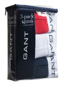 Gant 3 Pack Trunk Boxer Shorts Boxers Pants Underwear Red White Blue