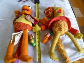 and Red Fraggle Rock Plush Dolls   Tomy with 2 1988 McDs Fraggle toys