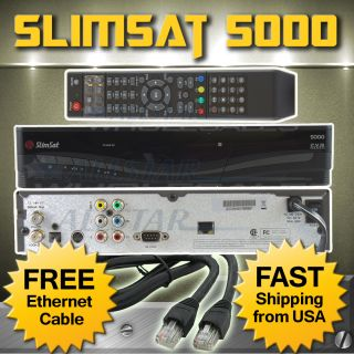 Brand New Slimsat 5000 FTA Digital Satellite Receiver USB PVR 2012