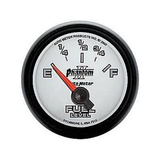 Autometer Phantom II Electrical Fuel Level Gauge 2 1 16 Dia White