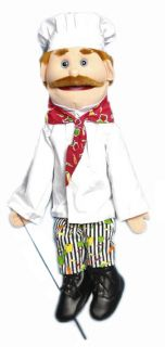 Pro 28 Full Body Ventriloquist Puppet Chef Georgio New