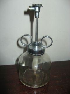Vtg Clear Glass Spray Bottle Mister Sprayer Plant Watering