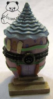 Aunt Bunnys Eggcellent Abode Egg Easter Treasure Box Boyds Bears Resin