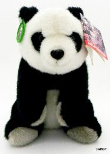 World Wildlife Fund WWF Panda Bear Stuffed Plush 1986 Tags Attached