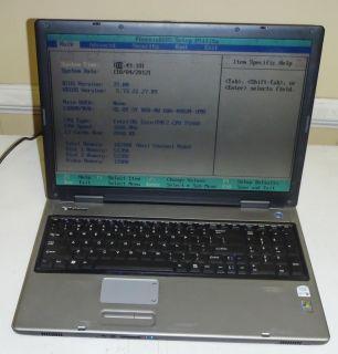 Gateway PA6 M685 E 17 Laptop Notebook 1 66GHz Core 2 DVD RW 1GB RAM