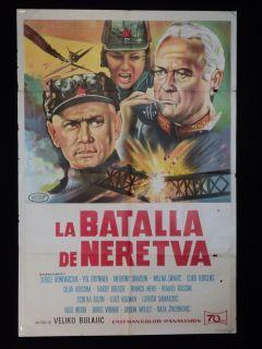 of Neretva Yul Brynner Franco Nero 1969 Argentine 1sh Poster