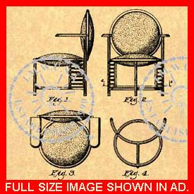 US Patent for A Frank Lloyd Wright Chair 116 3