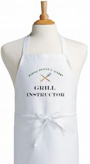 BBQ Boot Camp Grill Instructor Funny Bar B Que Apron
