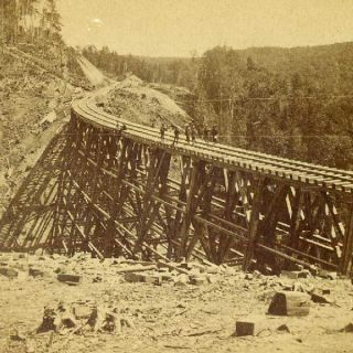 Trestle on The St Paul Duluth RR by P B Gaylord 1880S