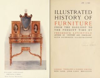 Illustrated History of Furniture Antique Furnishing Guide 1903 Book on