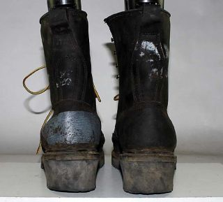 GEAR BOX BRAND BLACK LEATHER WORK/OUTDOOR BOOTS MENS sz 13 D