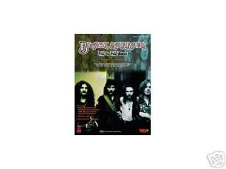 Black Sabbath Geezer Butler Bass Guitar Tab Song Book