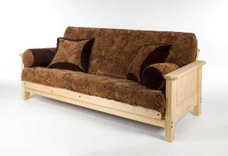 solid panel full size futon sofa bed frame pine wood elegance at a
