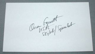 Owen K Garriott American USA Astronaut Signed Index Card