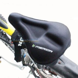 Bike 3D Bicycle Soft Silicone Pad Saddle Silica Gel Cushion Seat Cover