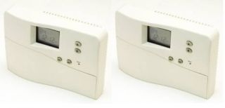 Garrison Set of 2 Digital Programmable Thermostat Heat and Cool Fan 4