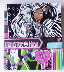 Monster High 3 Ring Binder Velvet Art Personalize It Ships Fast Free