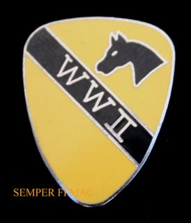 WW2 World War 2 CAV US Army Hat Pin Fort Hood TX Garryowen