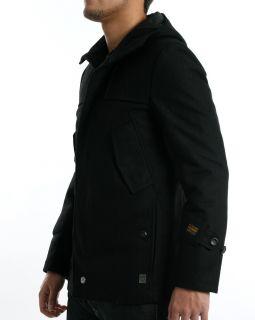 Gstar G Star Raw Artner Weston Hooded Black Wool Jacket