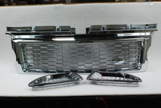 Rover Triple Chrome Plated Front Sport G2 Mesh Grille Side Vent