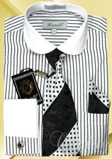 Steven Land White Black Polka Dot Cutaway Collar Dress