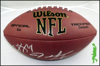 RYAN FITZPATRICK & FRED JACKSON SIGNED AUTO WILSON NFL FOOTBALL BALL