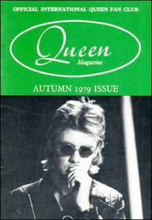 Queen Summer 1979 Fan Club Magazine Freddie Mercury
