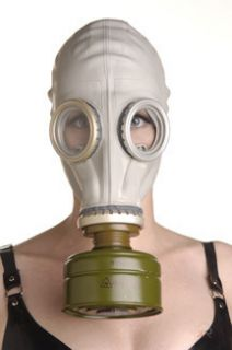 Authentic Military Full Head Rubber Gas Mask Hood