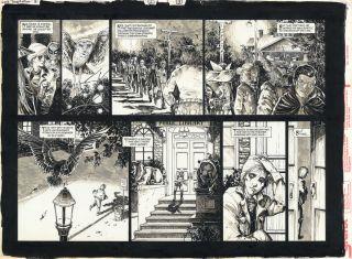 Cooper 3 P2 3 Original Double Spread Comic Art Neil Gaiman