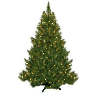 General Foam Plastics Evergreen Fir Prelit Christmas Tree with 250