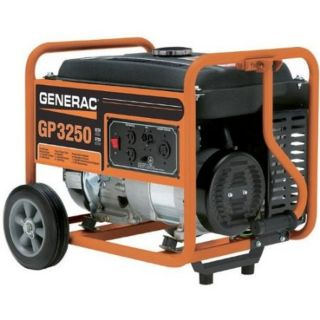 GP Series 3250 3750 Watt Portable Gas Powered Generator With Wheel Kit