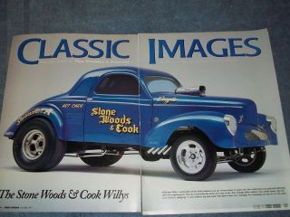 1940 Willys Gasser Drag Car Article The Stone Woods Cook Willys