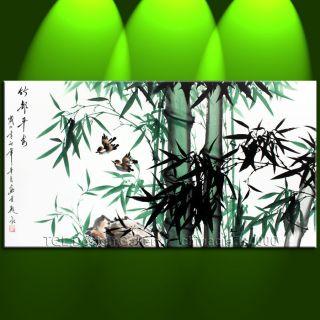 48 Original Japanese Peace Bamboo Signed Modern Asian Art Watercolor