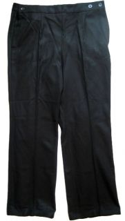 Ukraine Navy Sailor PANTS BLACK WARM WOOL 35 Waist 44 Length / 52/5