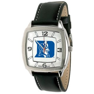 Mens Retro Game Time Logo Watch Square Dial Adjustable Leather Band