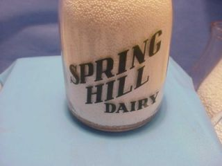 Quart Milk Bottle Spring Hill Dairy KY WV Ohio Gallipolis Ohio