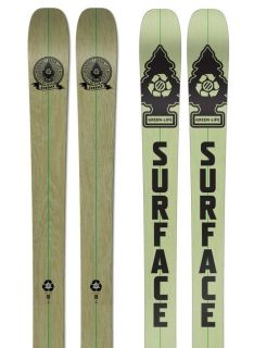 2012 Surface GREEN LIFE Ski Eco Friendly Twin Tip Freestyle Ski 172 cm