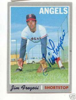 Jim Fregosi Cal Angels 1970 Topps card signed JSA