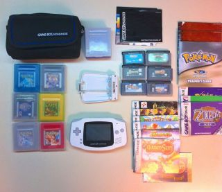 Nintendo Game Boy Advance System Games Lot Golden Sun Mario Zelda