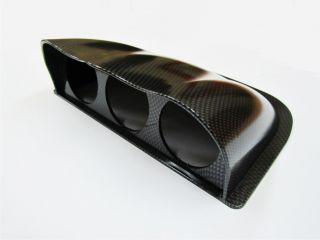 Universal Three Triple 60mm Gauge Meter Dash Pod Carbon