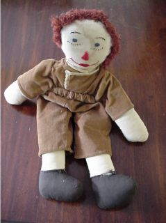 antique folk art hand made raggeddy andy doll this doll is handmade