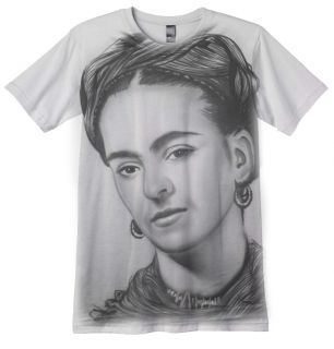Frida Kahlo T Shirt Hand Airbrushed Mexican Painter