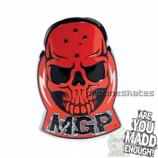 Madd Gear MGP Aluminum Scooter Decal Sticker Red