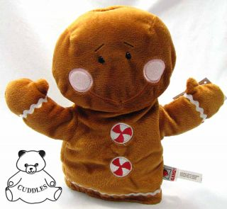 Gingerbread Man Hand Puppet Ganz Plush Toy Stuffed Animal Ginger Bread